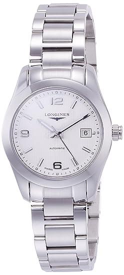 Longines L22854766 - Reloj de pulsera para Mujer, blanco/plata: Amazon.es: Relojes