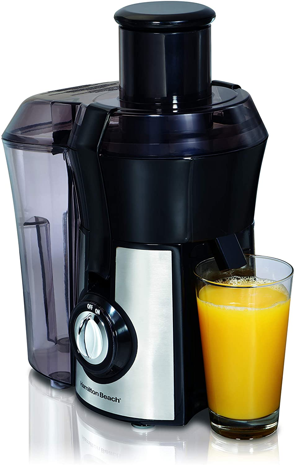 Hamilton Beach Pro Juicer Machine, Big Mouth Large 3 Feedchute, Easy to Clean, Centrifugal, BPA Free, 800W 67608A , Silver