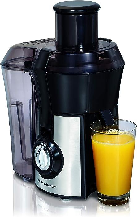 "Hamilton Beach Pro Juicer Machine, Big Mouth Large 3"" Feedchute, Easy to Clean, Centrifugal, BPA Free, 800W (67608A), Silver"