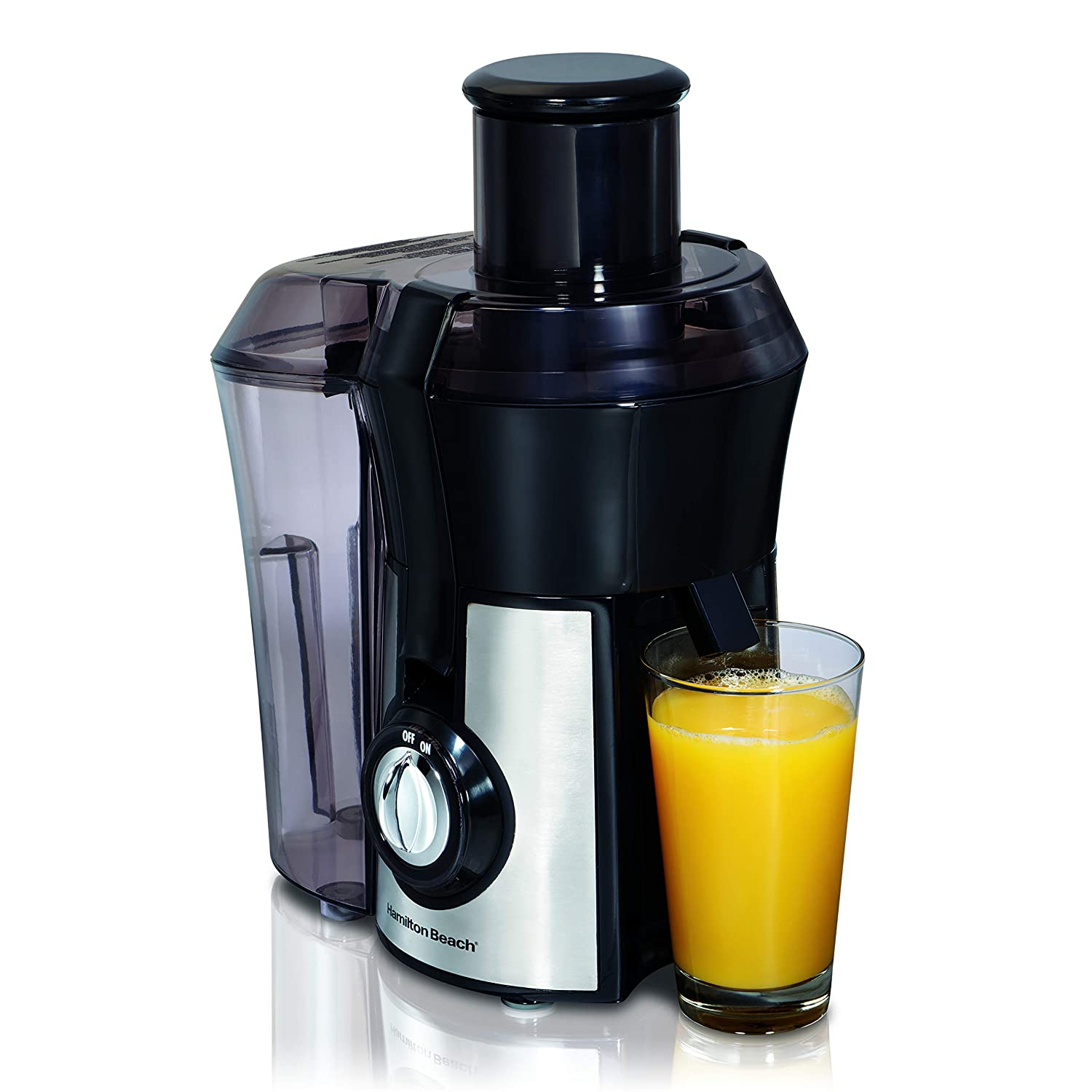 Hamilton Beach 040094922635 67608A Juicer, Electric, 800 Watt, Easy to Clean, BPA Free, Large Silver