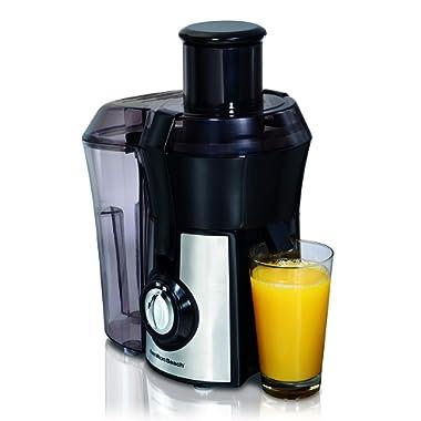 Hamilton Beach 67608A Juicer, Electric, 800 Watt, Easy to Clean, BPA Free, Large Silver