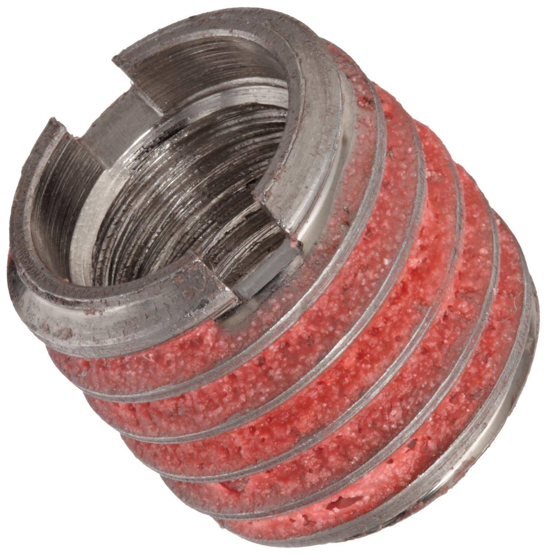 E-Z Lok Externally Threaded Insert, 303 Stainless Steel, #10-24 Internal Threads, 3/8''-16 External Threads, 0.406'' Length, Made in US by E-Z LOK