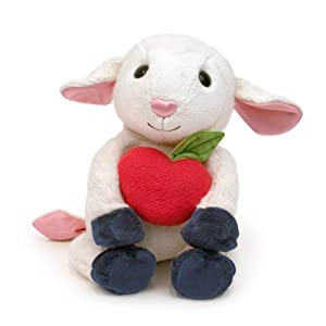 "Apple Park Picnic Pal Organic 9"" Plush Toy, Lamby"
