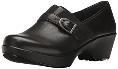 Dansko Women's Jane Clog, Black Burnished Nappa, 36 EU/5.5-6 M