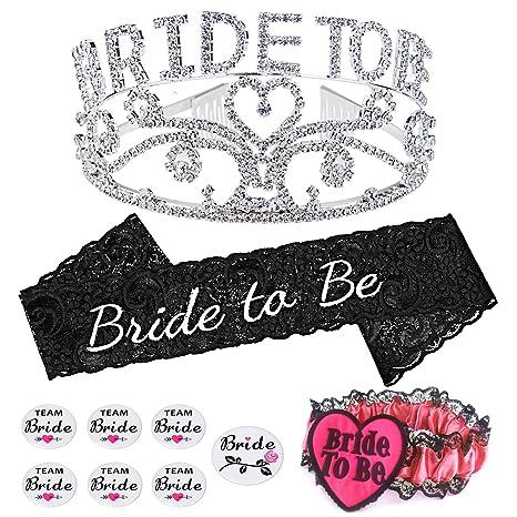 914afa7285a Konsait Bride To Be Tiara and Sash