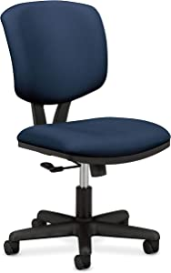 HON H5701.GA90.T Volt Low-Back Task Chair - Upholstered Computer Chair for Office Desk - Navy Fabric (H701)
