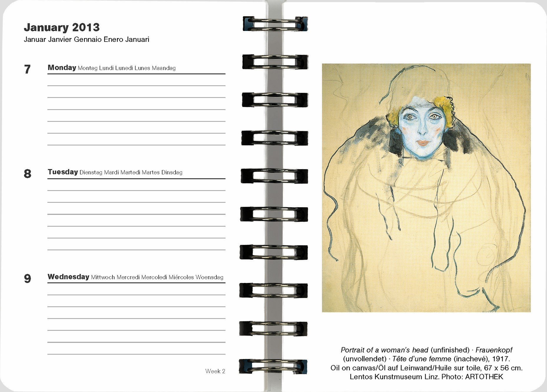2013 Gustav Klimt Deluxe Engagement Calendar