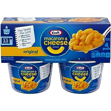 Amazon.com: Kraft fácil Mac Macaroni Taza para microondas, 8 ...