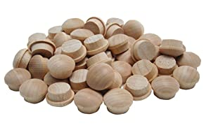 General Tools 312038 3/8-Inch Button Plugs, Hardwood, 50-Pack