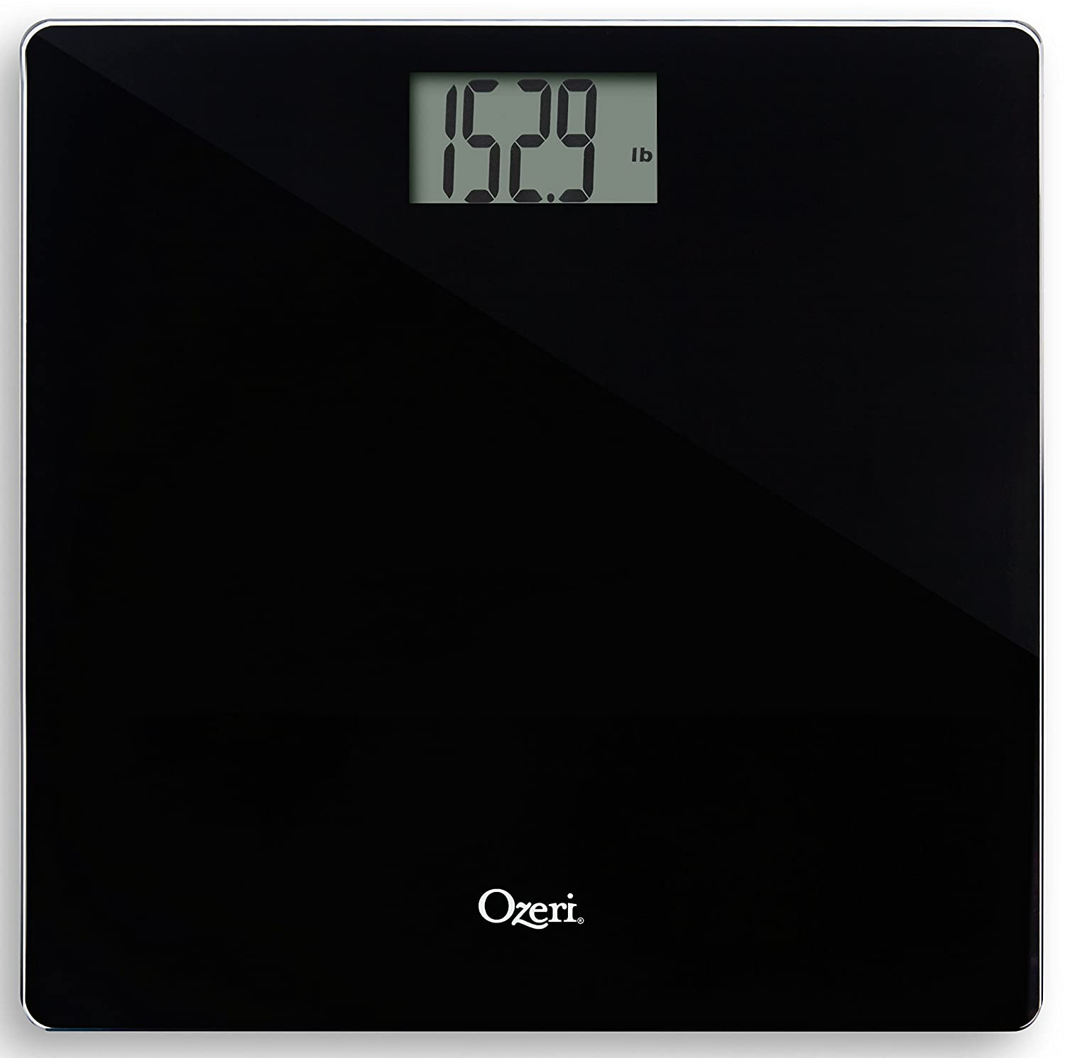 Ozeri Precision Bath Scale (440 lbs / 200 kg) in Tempered Glass, with 50 Gram Sensor Technology (0.1 lbs / 0.05 kg) and Infant, Pet & Luggage Tare