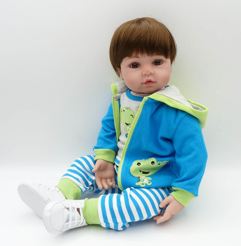 Amazon.com: Pinky 22 Inch 55cm Soft Silicone Dolls Reborn Baby Boy ...