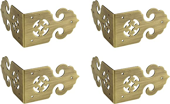 Fashion Embossing Wood Desk Chest Jewelry Box Corner Protectors Guard Edge Cover