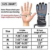 Ski Gloves, Winter Warm 3M Insulation Waterproof