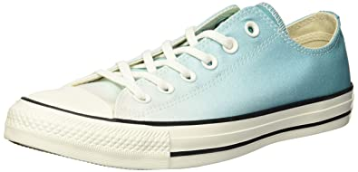 49d1363d5995 Converse Women s Chuck Taylor All Star Ombre Low TOP Sneaker Pure Teal  egret