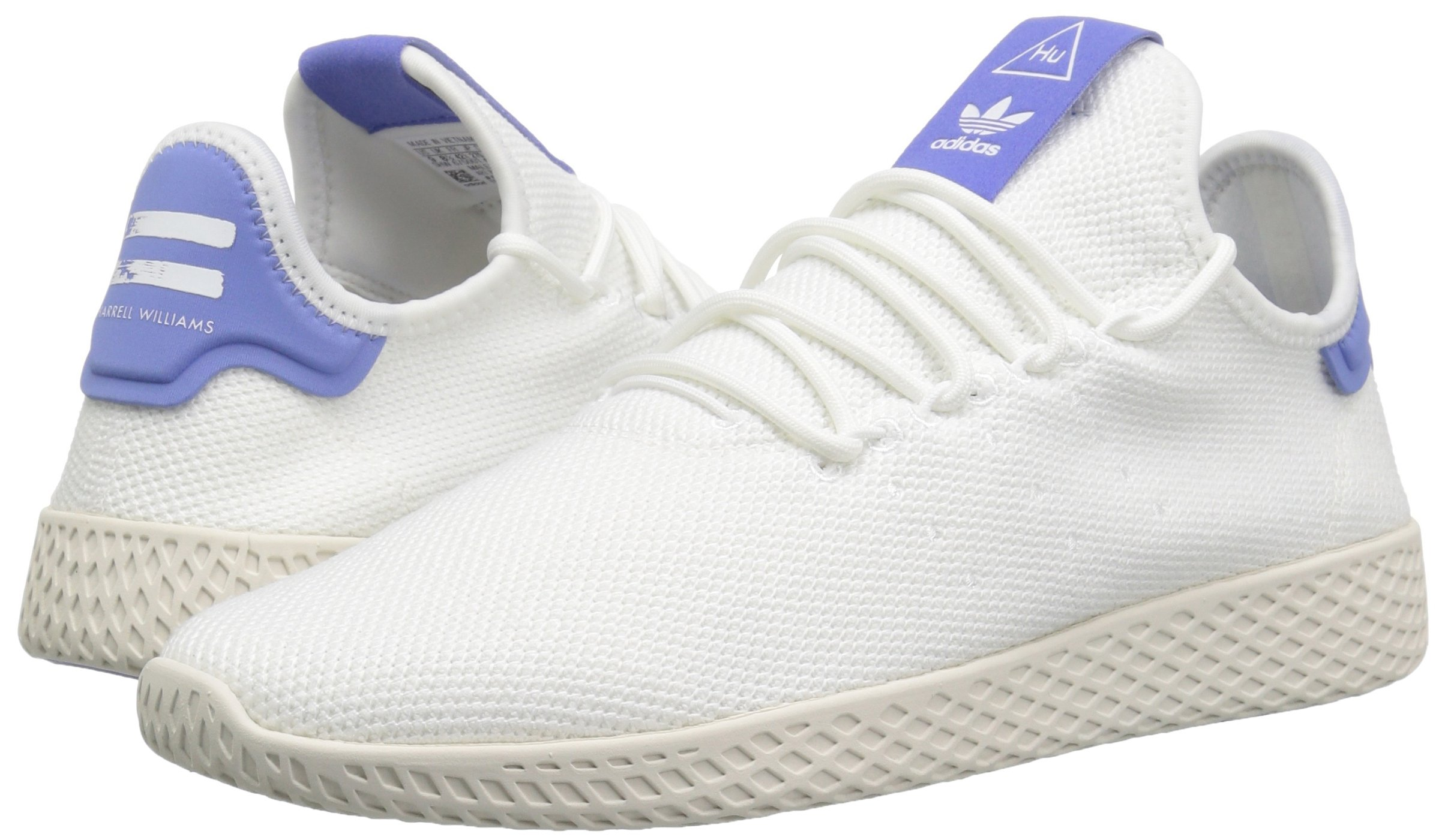 adidas Originals Men's Pharrell Williams Tennis HU Running Shoe, White/Chalk, 5.5 M US by adidas Originals (Image #5)