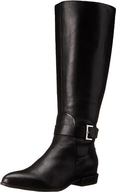 Diablo-Wide Calf Leather Knee-High Boot