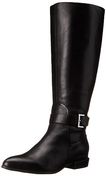 Amazon.com | Nine West Women's Diablo-Wide Calf Leather Knee-High ...