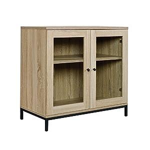 "Sauder 420035 North Avenue Display Cabinet, For TVs up to 32"", Charter Oak finish"
