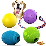 FunniPets Dog Toys, Dog Treat Ball Floatable Dog Ball Durable Interactive Dog Chew Toys Dog Rope Toys Dog Puzzle Toys for Medium and Large Dogs
