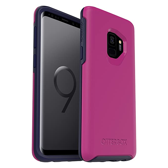 huge discount de390 15763 OtterBox Symmetry Series Case for Samsung Galaxy S9 - Frustration Free  Packaging - Mix Berry JAM (Baton Rouge/Maritime Blue)