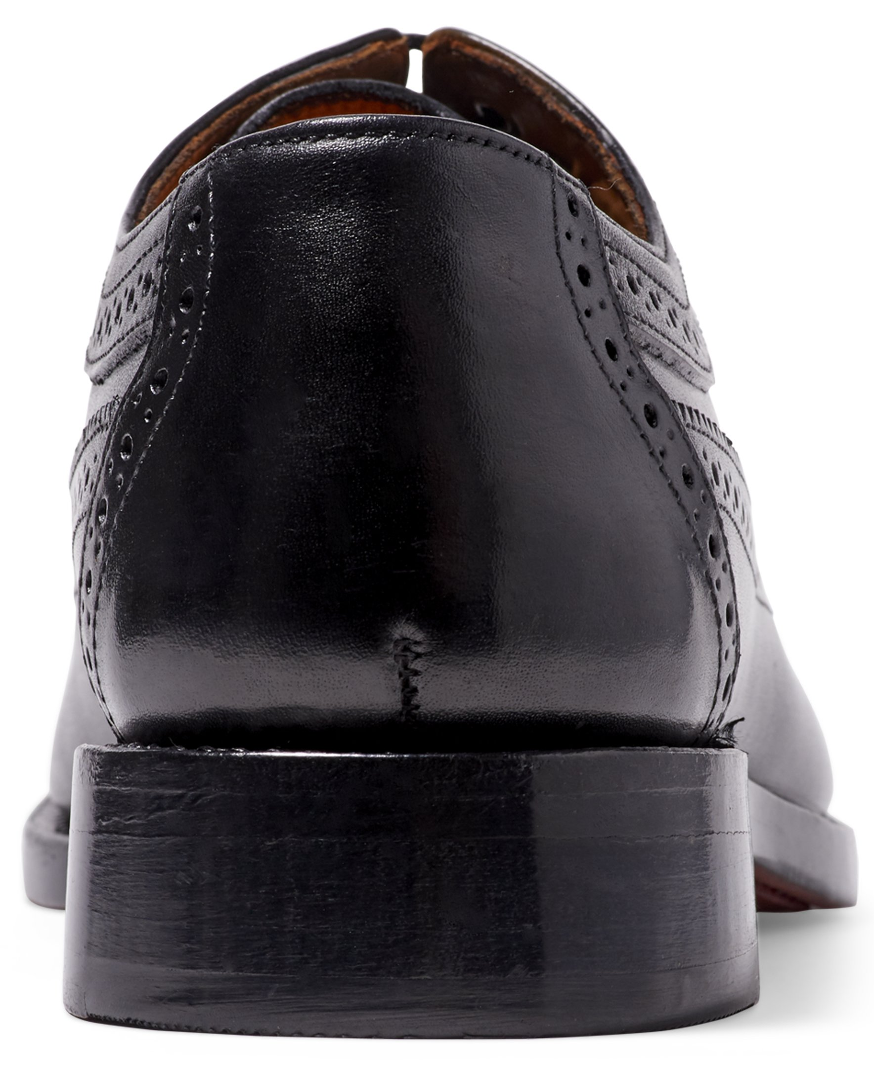 Anthony Veer Mens Regan Oxford Full Brogue Leather Shoes in Goodyear Welted Construction (8.5 D, Black) by Anthony Veer (Image #3)