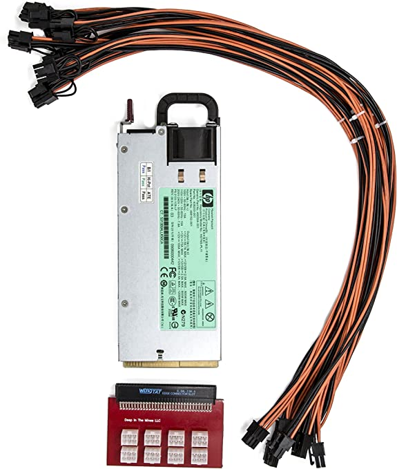 Amazon.com: 94% Platinum 1200 Watt Power Supply for GPU Open Rig Mining ~ Ethereum: Computers & Accessories