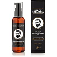 Beard Oil by Percy Nobleman - 99% Naturally Derived Newly Available Signature Scented Blend. Beard Conditioning Oil With a Special Mixture of Quality Ingredients that Softens and Conditions your Facial Hair. (100ml)