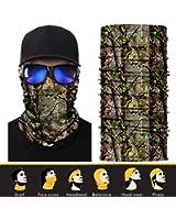 3D Face Sun Mask, Neck Gaiter, Headwear, Magic Scarf, Balaclava, Bandana, Headband for Fishing, Hunting, Yard work, Running, Motorcycling, UV Protection, Great for Men & Women