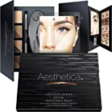 Aesthetica Cosmetics Brow Contour Kit – 15-Piece Contouring Eyebrow Makeup Palette – Includes Powders, Wax, Stencils, Spoolie/Brush Duo, Tweezers & Step-by-Step Instructions – Cruelty Free