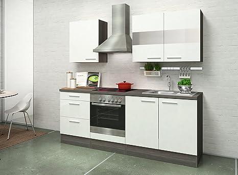 respekta Premium Incasso Cucina Cucina Riga 210 cm Rovere Bianco ...