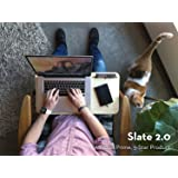 iSkelter Slate 2.0 Mobile LapDesk - The Essential Laptop Accessory for Students, Professionals, Designers, and Gamers (With Desk Space, For 15 inch Laptops, Premium Light Bamboo)