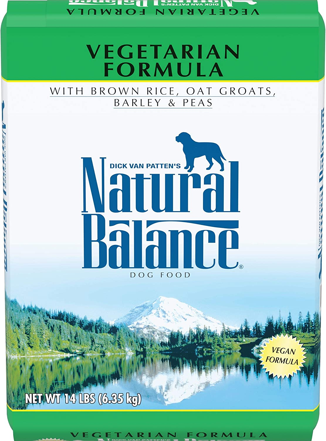 Natural Balance Vegetarian Dry Dog Food, Brown Rice, Oat Groats, Barley & Peas, Vegan