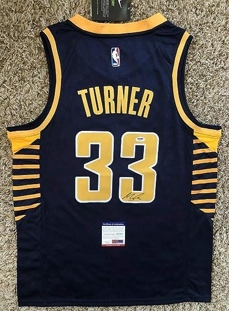 900122ee711e Myles Turner Autographed Signed Memorabilia Indiana Pacers Jersey PSA DNA  Coa  33 Texas Nba