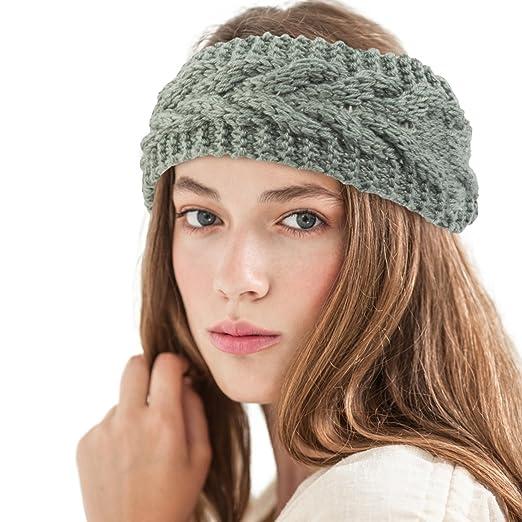 d7e2695268e Zodaca Womens Plain Braided Winter Knit Crochet Headband