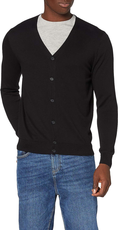 Amazon Brand - MERAKI Men's Cotton V Neck Cardigan
