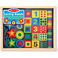 Melissa & Doug 3775 Deluxe Wooden Lacing Beads - Educational Activity with 27 Beads and 2 Laces