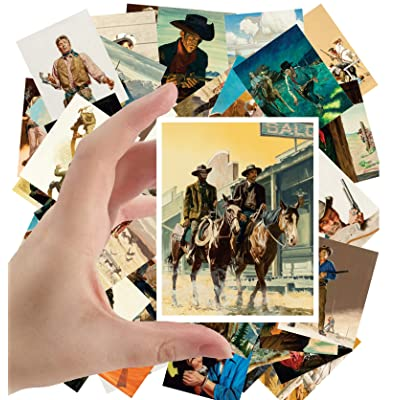 "Large Stickers (24 pcs 2.5""x3.5"") Vintage Western Cowboys Indians Wild West by Stanley Borack and George Gross: Toys & Games"
