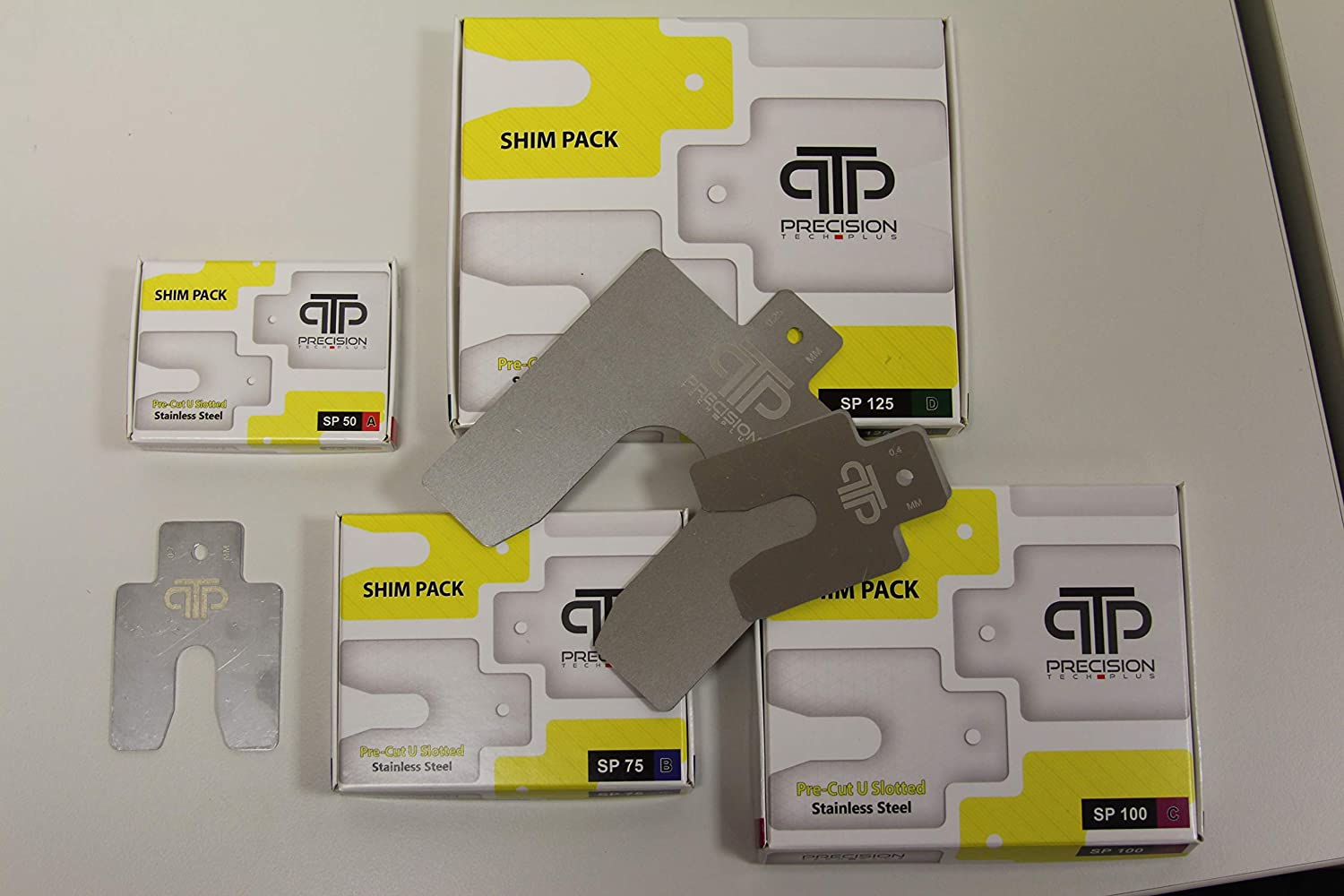 Stainless Steel Pre cut Shim Pack Size B 75 x 75 mm 0.05 mm shim thickness, 20 pieces per pack