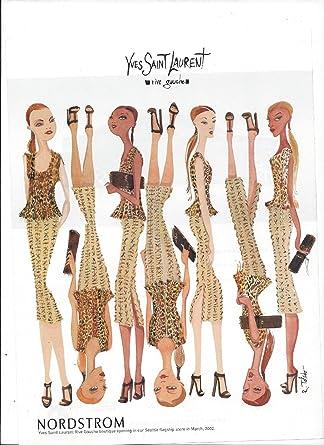 b813e3db6ba Amazon.com: Illustrated Print Ad For 2002 Yves Saint Laurent Rive Gauche  Nordstrom **PRINT AD**: Entertainment Collectibles