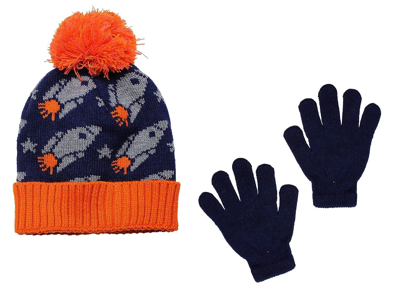 Polar Wear Boys Soft Stretch Knit Beanie Hat /& Gloves Sets
