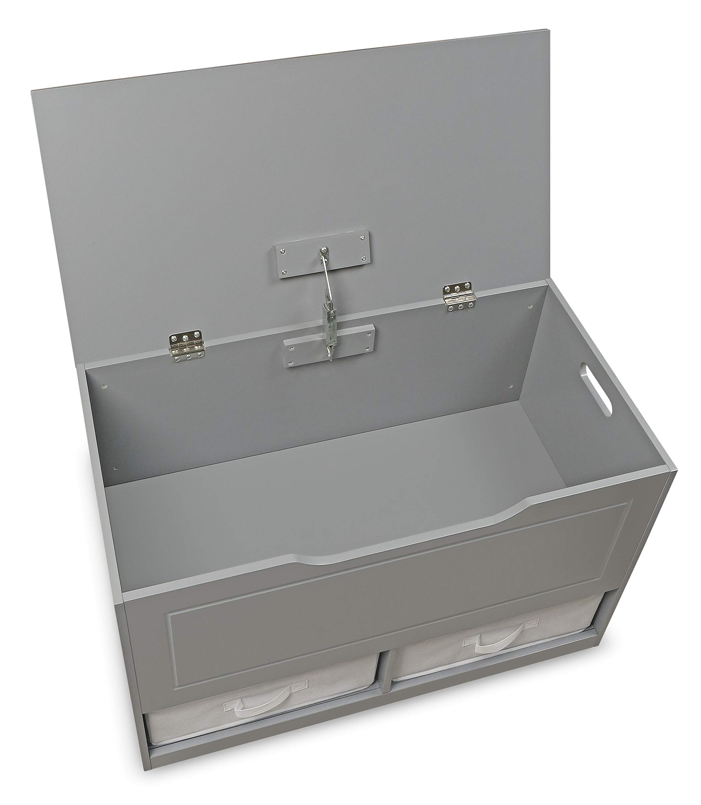 Badger Basket Up and Down Toy and Storage Box with 2 Basket Drawers, Gray/White by Badger Basket (Image #7)
