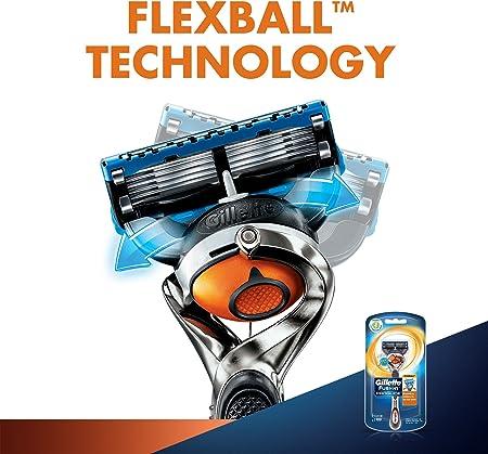 Gillette Fusion5 ProGlide Maquinilla, Tecnología FlexBall, se Adapta a los Contornos, Elimina Casi Todo el Pelo