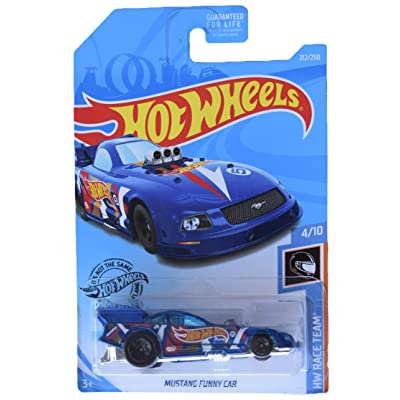 Hot Wheels Mustang Funny Car 212/250, Blue: Toys & Games