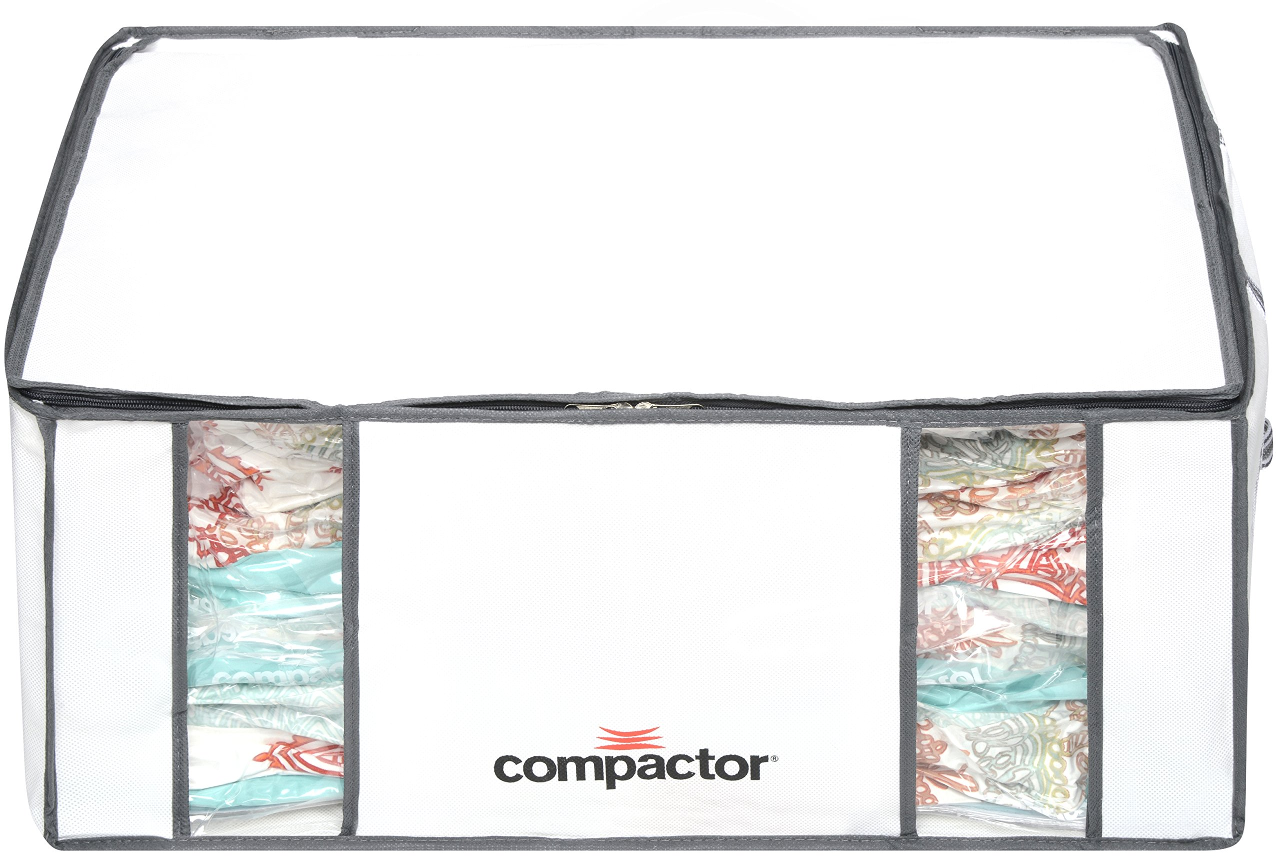 Compactor Space Saver Vacuum Storage Solution Vacuum Bag to Protect Clothes, Pillows, Duvets, Comforters, Blankets (XXL (26''x20''x11''), Classic White) by Compactor (Image #2)