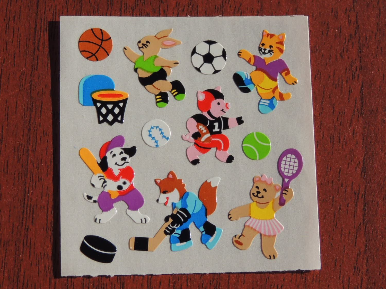 "Sandylion Stickers Dress Up lot of 5 SHEETS size 2/"" X 6/"""