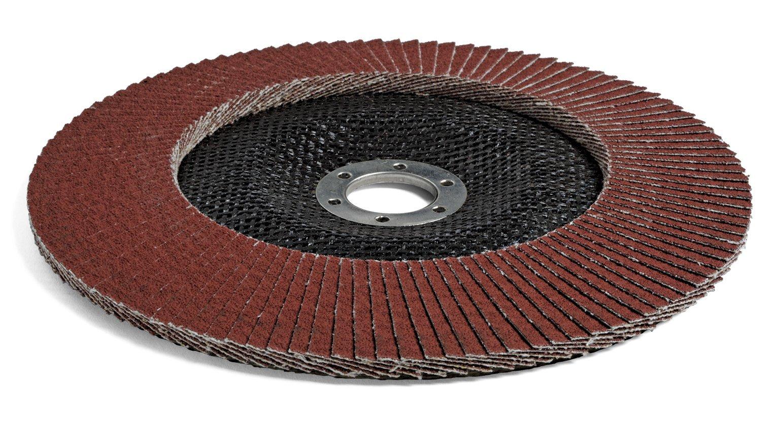 3M Cubitron II Flap Disc 967A, Type 29, Cloth, Ceramic Grain, 7'' Diameter, 40+ Grit, Brown (Pack of 5)