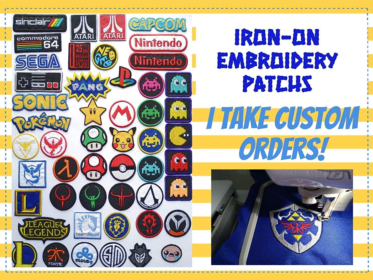 embroidery iron on sew on patch Gaysper