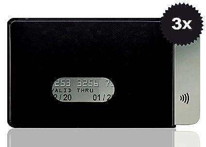 OPTEXX w4932015 RFID – Fundas 3 x Fred Negro para Tarjeta de Crédito