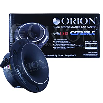 "Orion CTW1.7HP Cobalt Series 3.8"" 300W Peak Power Pro Audio Car Stereo Speaker Super Tweeters: Electronics"