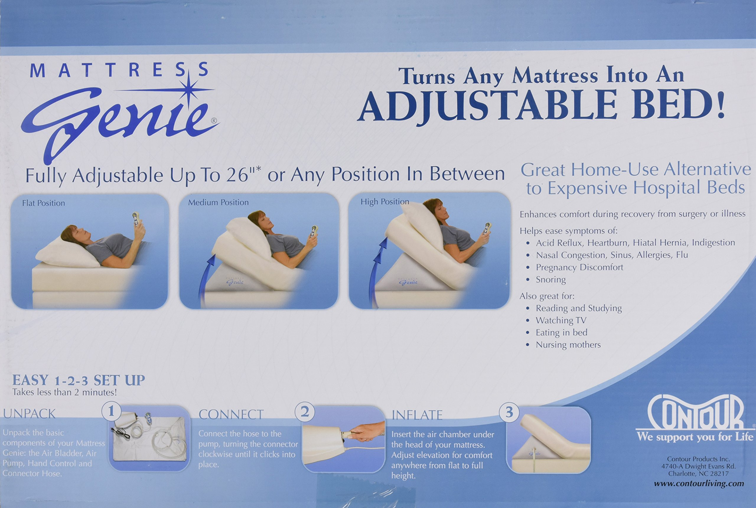 Contour Products Mattress Genie Bed Wedge, Full by Contour Products